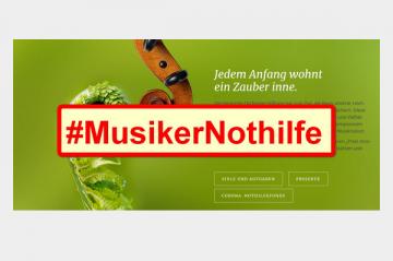 Prominente Künstler sammeln bei BR-Klassik für #MusikerNothilfe
